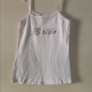 Tops - Cute bride tank